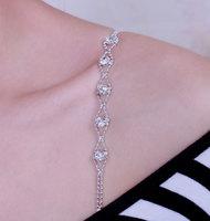 Casual beads rhinestone shoulder strap bra shoulder strap underwear belt