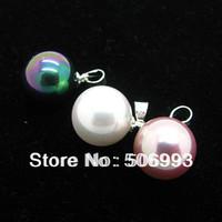 Fashion Mix Color 12mm Pearl Jewelry Beads Mjolnir Pendant  Fancy Dance Pendants maori Necklace  HC155