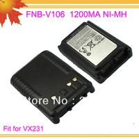 10pcs/lot DHL free shipping free FNB-V106 FNB V106 FNBV106 for walkie talkie VX231 VX228 1200mAh NI-MH handy talkie Battery pack