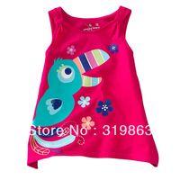 wholesales glitter bird summer girls sun-top pink baby Camisoles  flower girl baby kids jumping beans tank (18m-5T) 5pcs/lot
