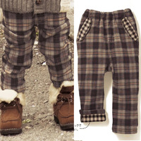 Children's clothing autumn and winter 2013 child trousers male female child trousers infant trousers baby trousers