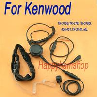 Big PTT dual sensors Throat Mic for Kenwood TK-370 Wouxun KG-UVD1P Baofeng UV-5R Walkie talkie