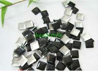 2013fashion 7mm Black  hot fix Pyramid nailhead Studs Spots Punk Rock Biker DIY Spikes Bag Shoes Clothes 500pcs/lot Free shiping