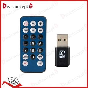 Mini DVB-T Digital TV Tuner USB Stick Receiver Recorder with Remote Antenna 20Pcs/Lot DHL Free Shipping
