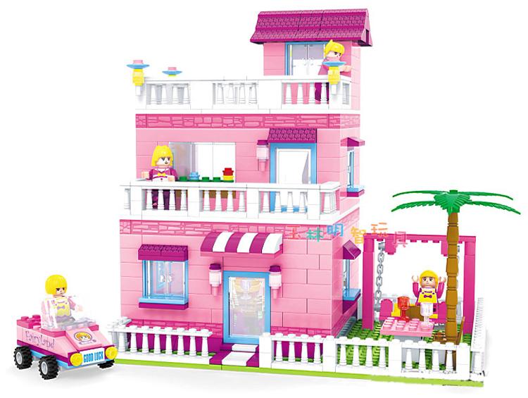 ma maison - Page 3 Ausini-Building-Block-Toy-My-Pink-House-Villa-Construction-Educational-Bricks-Toys-for-Girls-Compatible-Bricks
