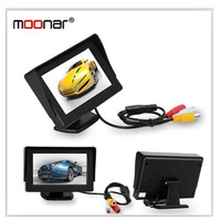4.3 Inch TFT-LCD Car Rearview Mirror DVD Monitor Support rotatable screen Auto switch when reversing QP0013