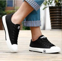 [Free shipping] 2013 New arrival fashion male high canvas casual high-top flats skate boarding shoes big size men's shoes