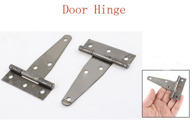 "3.7"" Length Gray Metal T Shape Door Hinges Hardware 4pcs(China (Mainland))"