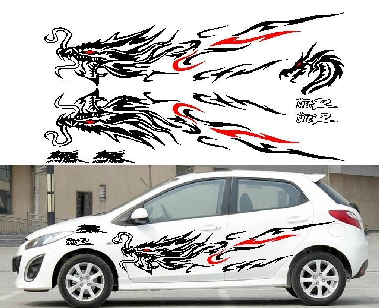 Car Racing Stickers Design Garland Racing Sport Decal