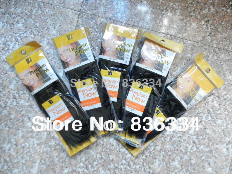 3PCS Sensationnel hair Premium Now human hair extension Yaki Weaving Full head Lot free shipping(China (Mainland))