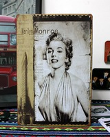 Vintage Marilyn Monroe Metal Painting Iron Wall Mural for Bar/Coffee/Home Decoration/Decals A-05 20*30cm Free Shipping