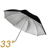 "2pcs 33"" 83 cm Black Silver Photo Light Studio reflector Umbrella for studio flashes"