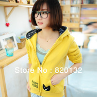 2013 NEW Autumn Winter Casual Women Sport Hoodies Sweatshirt Outwear Coat Jackets For Girls,Free/Drop Shipping