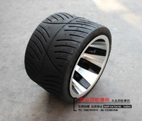 Free Shipping  ATV Mororcyle  Tyres Rims : 205/30 - 10 flat tyre rim assembly