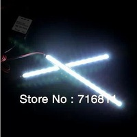 2 * Universal White 15 5050 SMD LED Daytime Running Light Car Day Driving Fog DRL Lamp free shipping