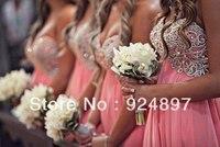 2013 Hot Sale Chiffon Embroidery Bridesmaid Dress(AC-1001)