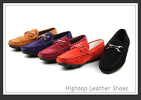 Free shipping new 2013 HighTop man genuine leather boat shoes leisure shoes gommini loafers 5 colors men Loafers size:38-44