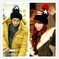 Macrospheric five-pointed star lovers knitted winter hat fashion knitted hat ear thermal