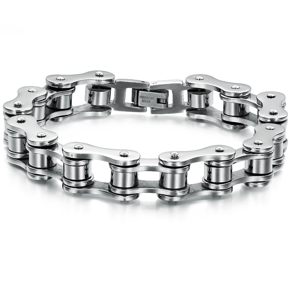 2013 New hot Wholesalel luxury man stainless steel bike chain bracelet Titanium steel brand jewellry 3016b(China (Mainland))