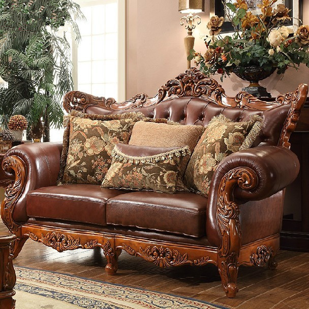 Compare Prices on Leather Wooden Sofa- Online Shopping/Buy Low