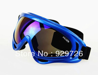 Blue Frame Ski Goggles Eyewear Protective Glasses coloured Lens UV400 New Free Shipping