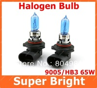2pcs 9005 Xenon Halogen Car Head Light Bulb Lamp HB3 Super White 6000K 12V 65W Free Shipping AAA