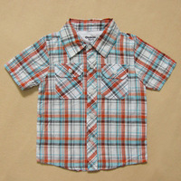 2013 free shipping Oshkosh male child 100% padded cotton short-sleeve shirt 100 - 130