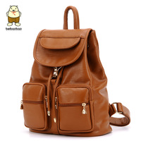 2013 winter preppy style BACKPACK, Female school bag, PU, 27*13*34cm, 3 COLORS, free shipping