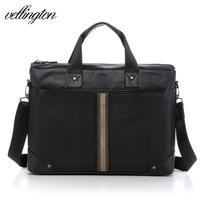 Vl genuine leather man bag commercial handbag briefcase first layer of cowhide briefcase laptop bag v-9105-3