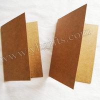 100PCS/LOT.Kraft paper blank folded cards,Handmade post card,DIY cards,Paper crafts.Art paper.DIy scrapbooking kit.
