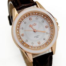 Brown Luxury Fashion Ladies Girls Women's  Birthday Xmas Gifts Jewelry Diamond Analog Quartz  Watches, Free & Drop Shipping