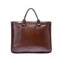 Fashion commercial briefcase laptop bag genuine leather man bag first layer of cowhide men's bag male shoulder bag handbag