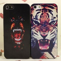 Tiger Roar Cross Quote Hard Case Back Cover For iPhone4 4s  FreeShipping