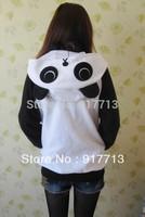 HOT Panda Japan Ears Face Tail Zip Hoody Sweatshirt Costume cosplay Cute Hoodies Cute