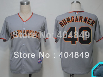 AA+ 40 multiple Madison Bumgarner jersey,new Giants home gray white black orange all star authentic,custom men men baseball