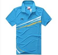 wholesale!free shipping Li-Ning Men's London 2013  MEN T-Shirt Chinese national flag Table Tennis/Badminton