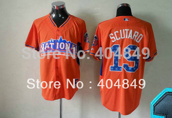 AA+ 19 multiple Marco Scutaro jersey,new Giants home gray orange all star authentic,custom men men baseball