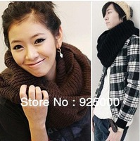 Free Shipping Fashion Women's Lady Men's Winter Warm Infinity Circle Knit Cowl Neck Long Scarf Kniting Shawl Wrap