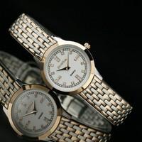 Commercial bestdon fashion ladies watch steel quartz watch lovers design women's watch  free shipping