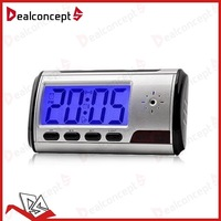Alarm clock hidden camera wireless DVR USB Motion Alarm mini DV 50PCS/Lot Free DHL Shipping