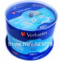 Hot sale! 50discs/lot High Quality Blank Discs Verbatim 52X CD-R Disks 700MB 80Min Recordable CDR Blank CD R Free Shipping