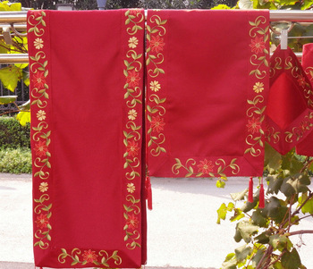 "Christmas Decoration/Ornament, Embroidery(14.5X42.5""/37x108cm)  Table Runners"