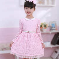 Long-sleeve dress children's clothing female child autumn 2013 young girl lace one-piece dress princess dress