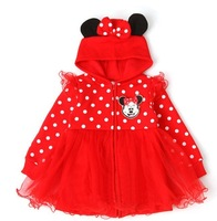 NEW,Children coat,girls cartoon coat cotton Girls fashion Minnie group of children's coat,5pcs/1lot,children clothing