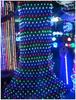 4.5x1.5m Fishing Net Led Holiday Lights Multicolor Christmas light Curtain Net Led wedding String Lights + Free Shipping