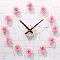 Romantic rose diy wall clock diy clock