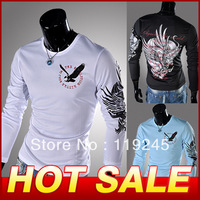 New Stylish High Quality Cotton T shirt Fashion T-shirt Long Sleeve T Shirts For Men Tee Shirt  Free Shipping Y246