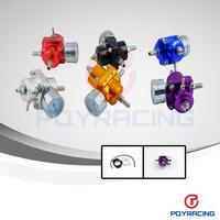 WLR STORE- Universal Adjustable Fuel Pressure Regulator Gauge JDM FPR 1:1 0-140 PSI  Red/gold/blue/black/silver/purple