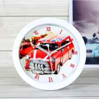 Fashion vintage 12.5cm beetle small alarm clock desktop alarm clock