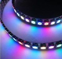 1m 144 LEDs/M 5050 RGB WS2812B Chip Black PCB WS2811 IC Digital  LED Strip Light 5V